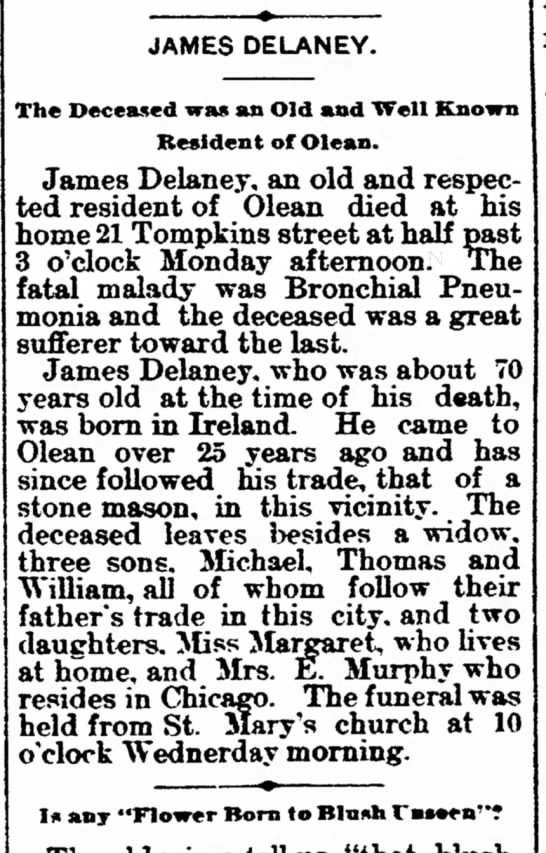James Delaney Dies