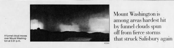 Photo of the Mt. Washington/Pittsburgh Tornado.