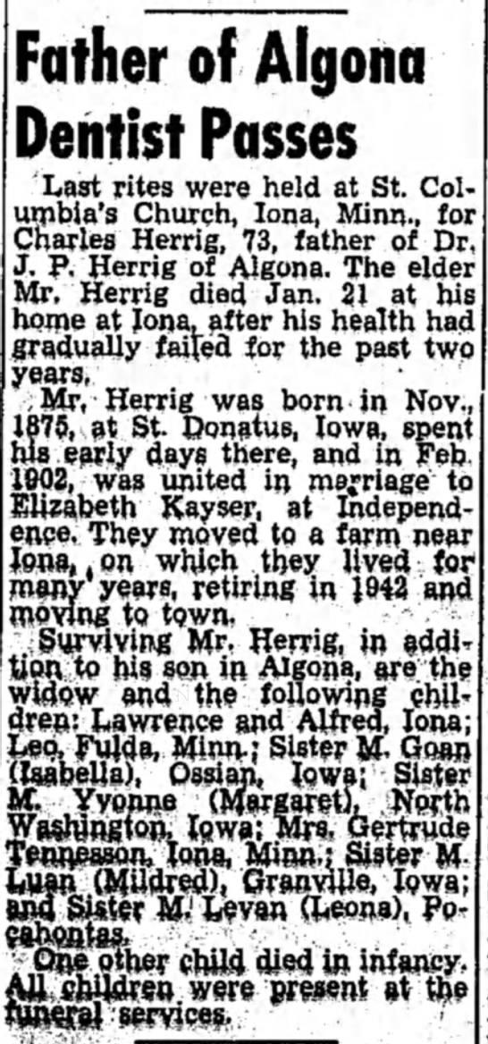 Charles Herrigfather: Wilhelm Herrig ?