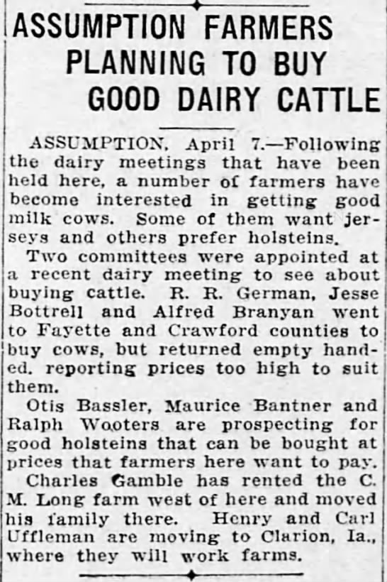 1927_0407_Bottrell, Jesse - ASSUMPTION FARMERS PLANNING TO BUY GOOD DAIRY...