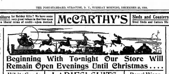 Santa-Syr Post-Std_1904-12-20 - THE POST-STANDARD, SYRACUSE, »-. Y., TUESDAY...