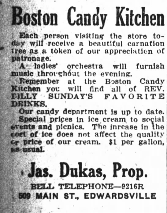 Boston Candy Kitchen 1913 - . . Boston Candy Kitchen i Each .person...