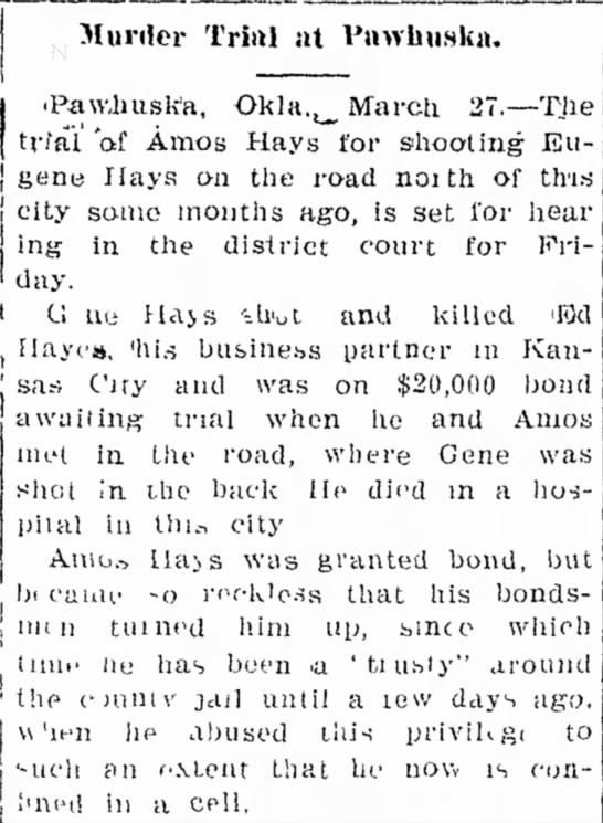 """self defense??"" Evening news, Ada Oklahoma 28 mar 1911 - O .! V- OTH- .,1'S. the c a l l a l l i l a L e..."