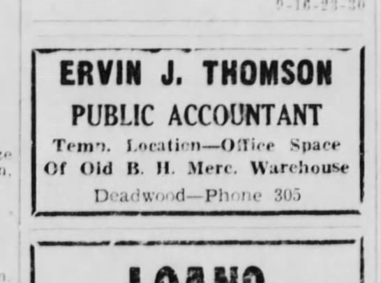 4-16-52 Classified Ad Lead Daily Call - .nzi-l.-li 1 ! ERVIN J. THOMSON PUBLIC...