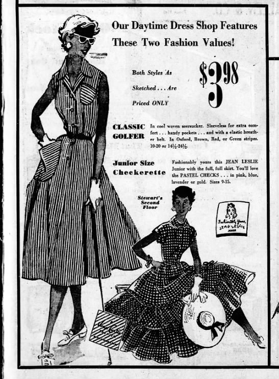 fashionably yours jean leslie junior boris smoler and sons - Our Daytime Dress Shop Features These Two...