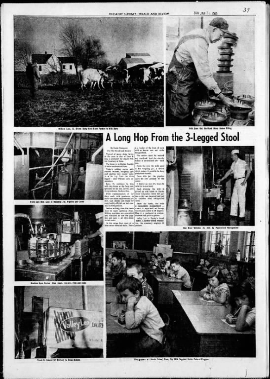 Decatur Daily Reviw 31 Jan 1960 page 39 Equity Union Creamery - 3f sisal DECATUR SUNDAY HERALD AND REVIEW SON....