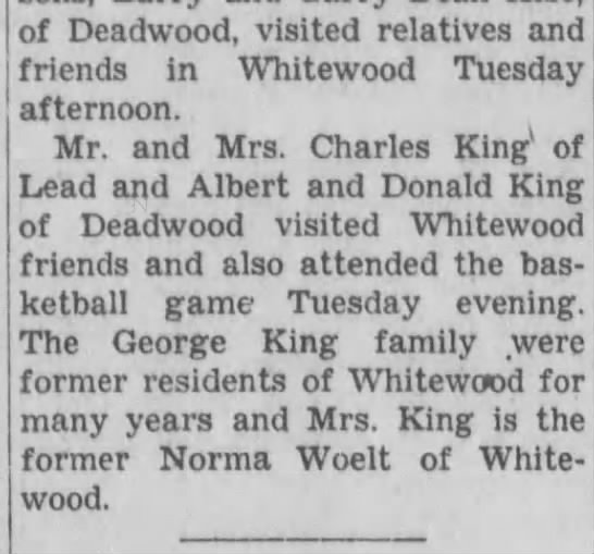 Don, Charles and Al - of Deadwood, visited relatives and friends in...