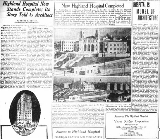 Highland Hospital completed - Highland Hospital Now Stands Complete; its...