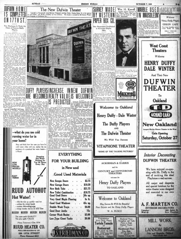 Dufwin theater opening