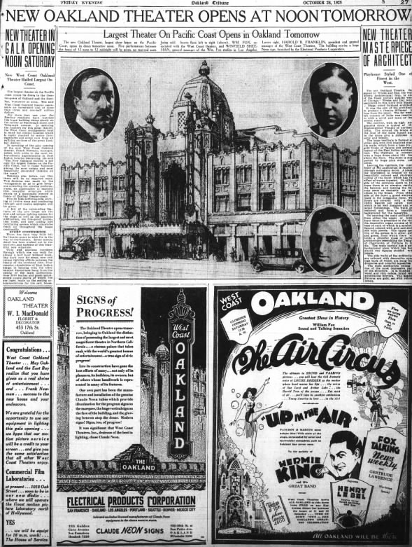 Oakland theatre opening