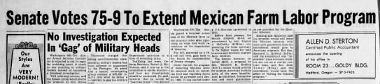 MMT 11 Sep 61 pg 2 - enate Votes 75-9 75-9 75-9 To Extend Mexican...