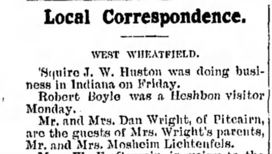 - Local Correspondence. WEST \VIIEATFIEtI>. J. W....