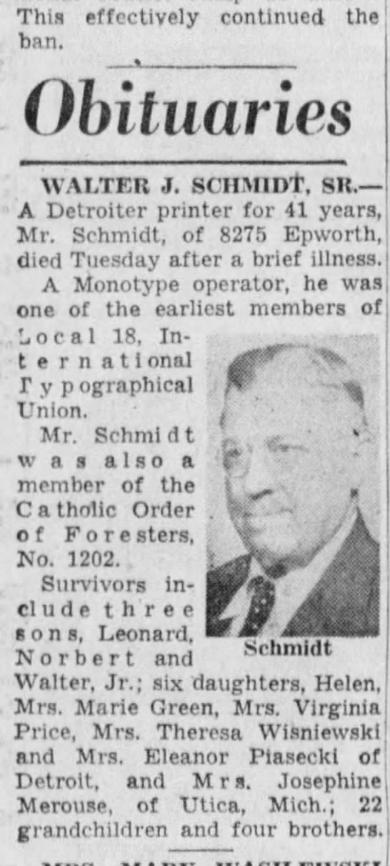 1-27-1954 - This effectively continued the ban. Obituaries...