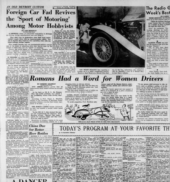 48_11_22 Detroit SCCA feature story, white MG - AN OLD DETROIT CUSTOM Foreign the port of Among...