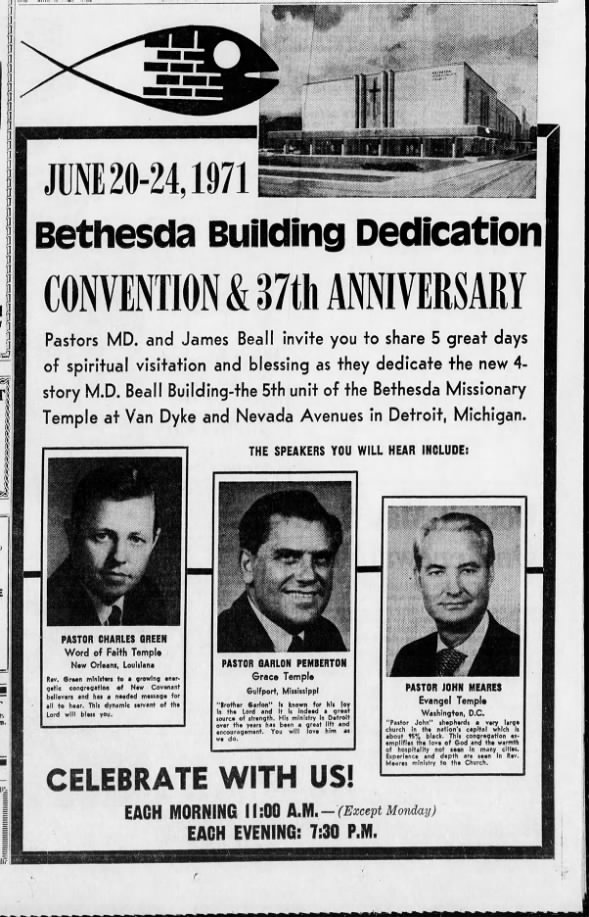 Anniversary and dedication convention 1971