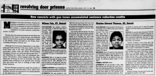 Revolving door prisons series in freep - 1985 - reuolvinn dcor prisons DETROIT FREE...