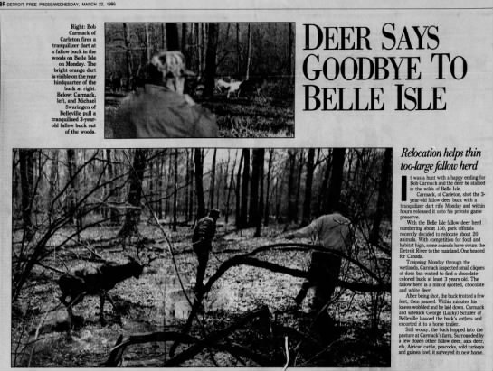 Bob Carmack - 8F DETROIT FREE PRESSWEDNESDAY, MARCH 22, 1995...
