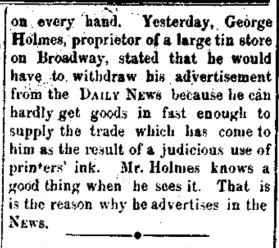 The Salem Daily News (Salem, Ohio), 30 June 1893,Page 4  - W. re- le on every 'hand. Yesterday,, George...