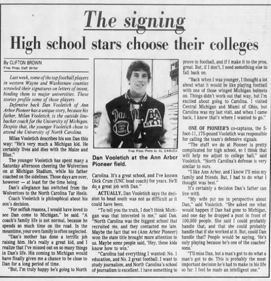 the signing - High school By CLIFTON BROWN Free Press Staff...