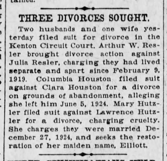 - THREE DIVORCES SOUGHT, Two husbands and one...