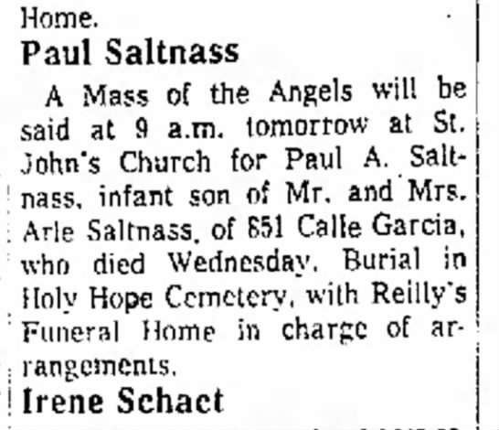 Paul Saltnass, mass -