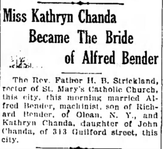 - Miss Kathryn Chanda Became The Bride Alfred...