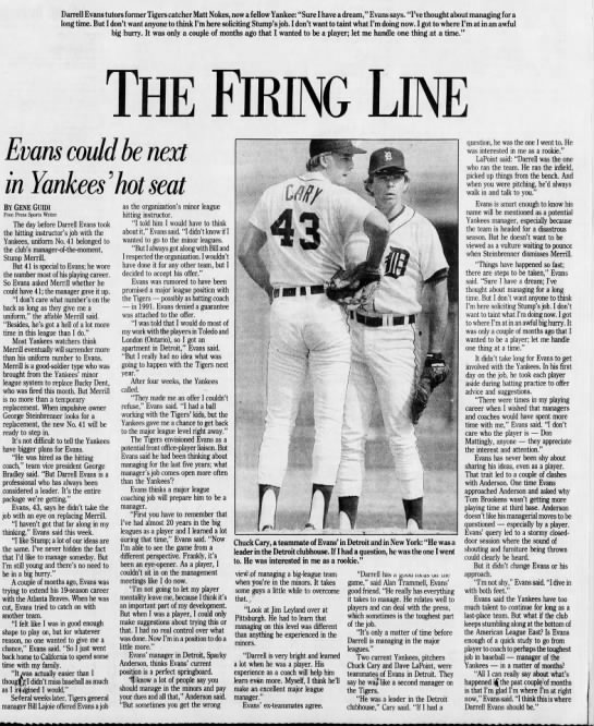 The Firing Line: Evans could be next in Yankees' hot seat -