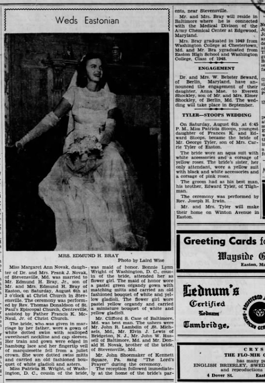 19 August 1949 issue of The Star Democrat, Easton, Maryland -