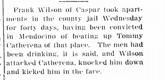 1916-Tommy Catherena beat up -