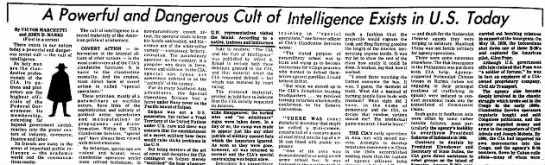 Cult of intelligence -