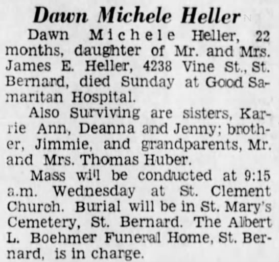 Obituary for Dawn Michele Heller -