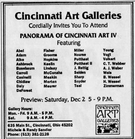 Panorama of Cincinnati Art IV, 1989 -