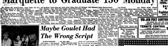 1965 Marquette Graduation - .One hDndfed fifty graduates receive diplom&s...
