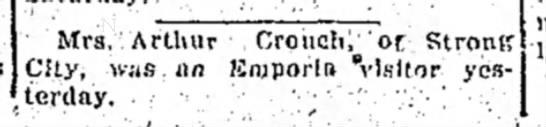 Mrs Arthur Crouch -