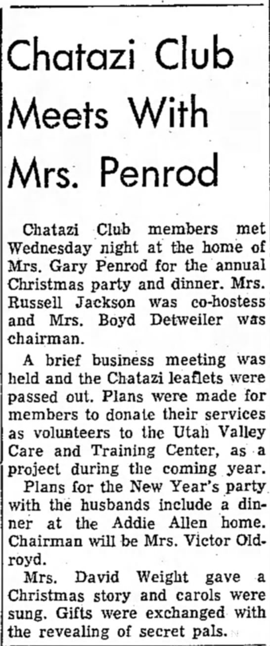 Chatzi Club Christmas Dinner -