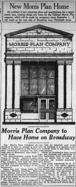 new HQ for Morris Plan Co. -