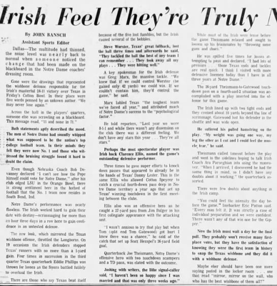 1971.01.03 Irish Feel They're No. 1 -