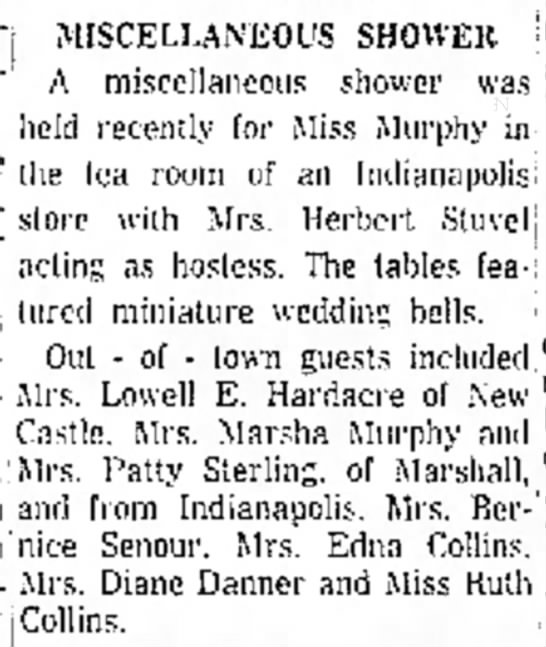 Mrs Stuvel Hostess At Shower 1961 -