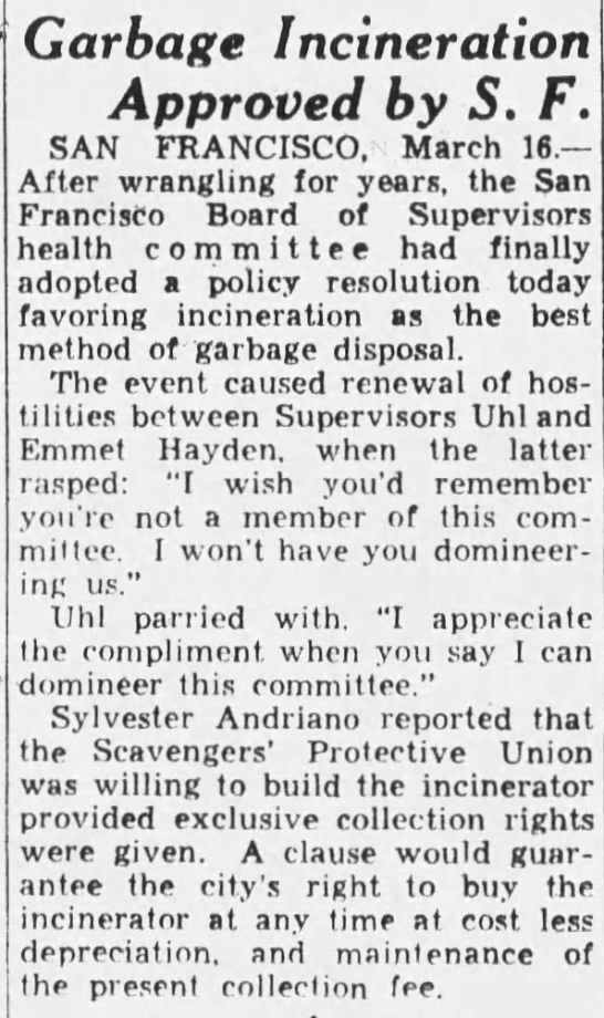1934-03-16 SF Supes vote for incinerator concept -