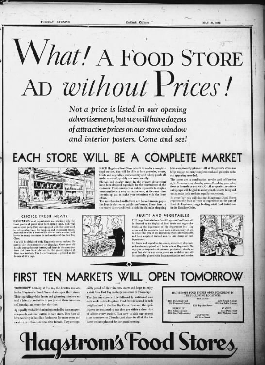 The First Ten Stores - May 31, 1932 -