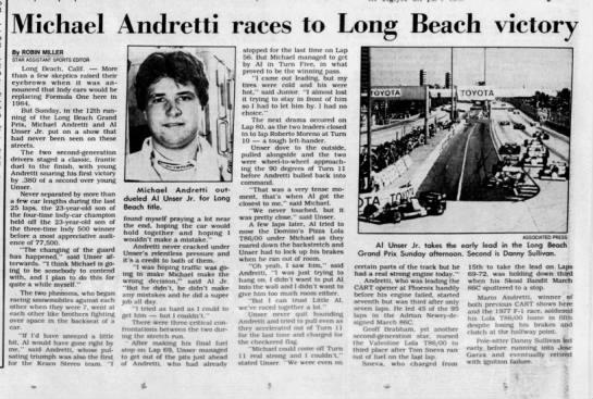 1986 CART Long Beach -