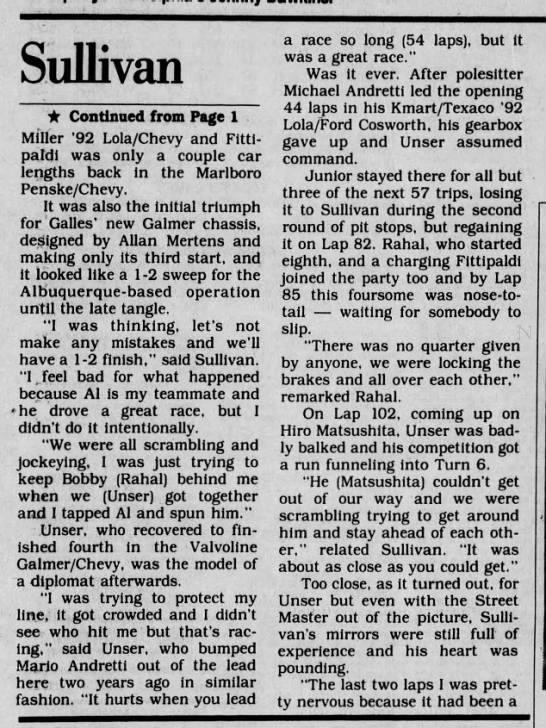 1992 CART Long Beach -
