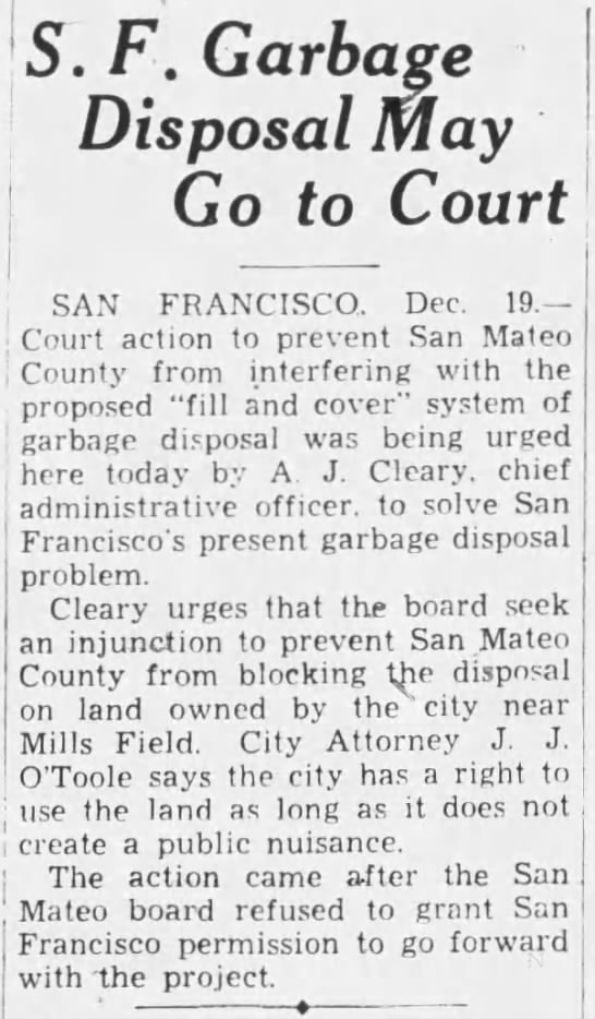 1933-12-19 SF may sue San Mateo over airport dumping rights -