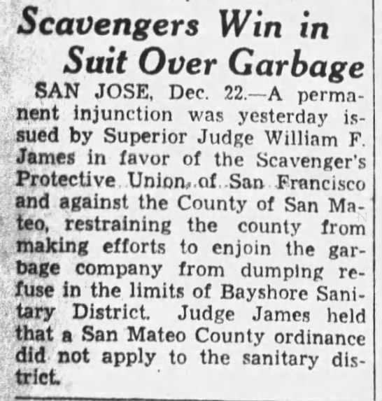 1933-12-22 SF scavengers win right to dump in San Mateo -