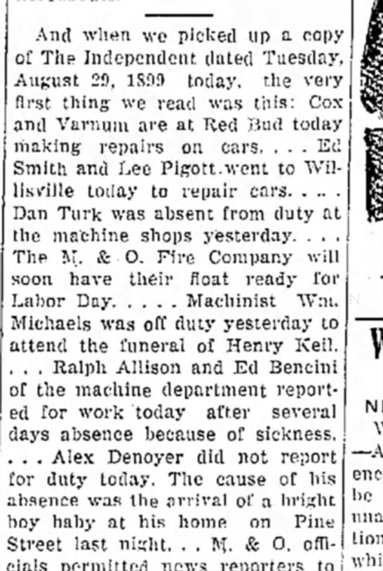 Ralph Allison returns to work after being ill