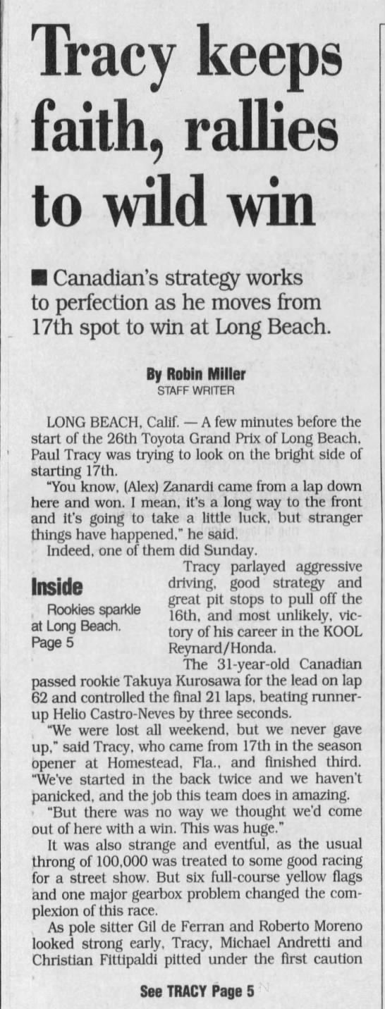 2000 CART Long Beach -