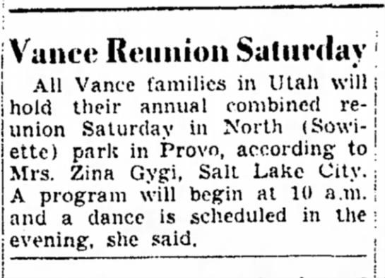 Vance reunion -