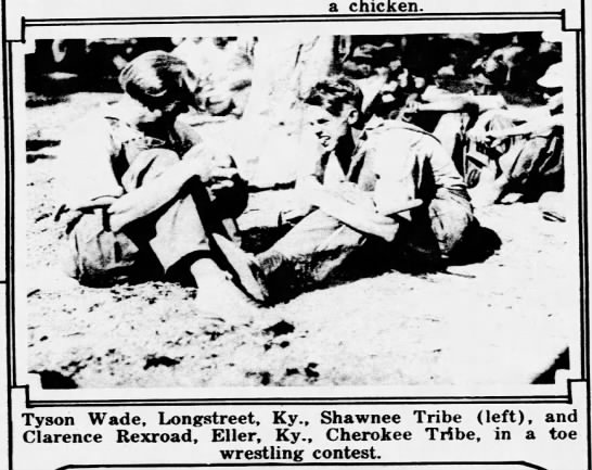 Toe wrestling photo, 1925 -