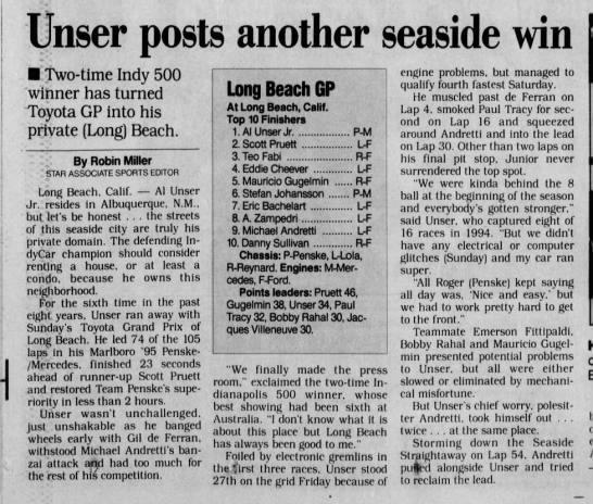 1995 CART Long Beach -