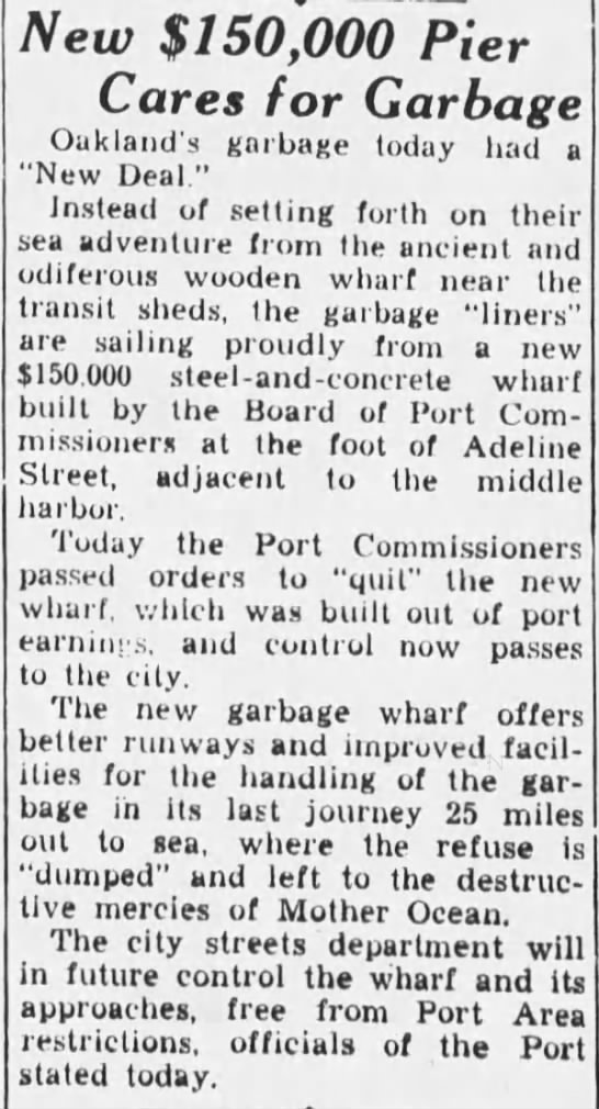 1933-08-31 Oak Port turns new wharf over to the city -